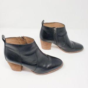 Madewell black leather Chelsea booties, 8